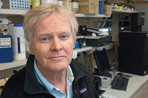 Michael W. Young in his lab in 2012