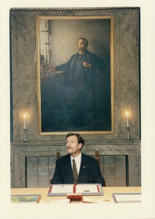 Rolf M. Zinkernagel visits the Nobel Foundation
