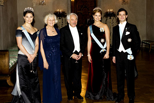 Peter Grünberg and his wife Helma Birge Grünberg with the Royal Swedish siblings