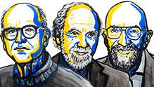 2017 Physics Laureates. Ill: N. Elmehed. © Nobel Media 2017