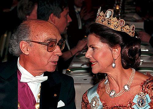 Queen Silvia and José Saramago