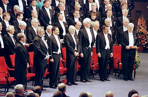 All 1999 Nobel Laureates onstage