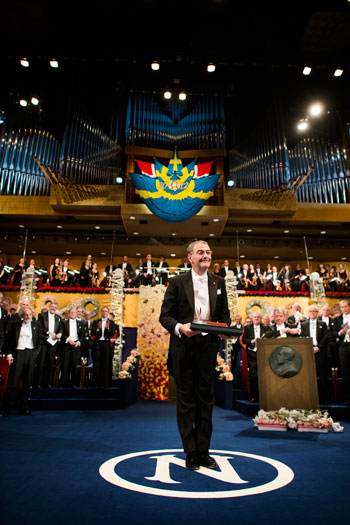 Serge Haroche after receiving his Nobel Prize at the Stockholm Concert Hall
