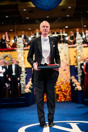 Brian K. Kobilka after receiving his Nobel Prize at the Stockholm Concert Hall