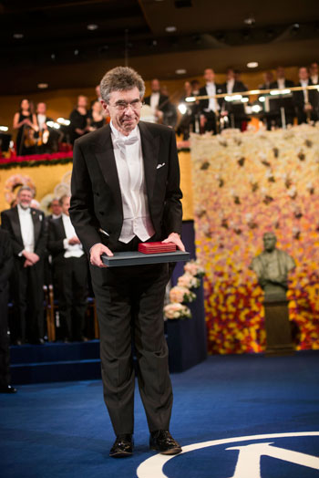 Robert J. Lefkowitz after receiving his Nobel Prize at the Stockholm Concert Hall