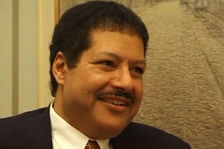 Ahmed H. Zewail during the interview
