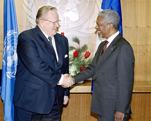 Martti Ahtisaari and Kofi Annan