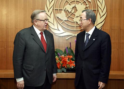 Martti Ahtisaari and Ban Ki-moon