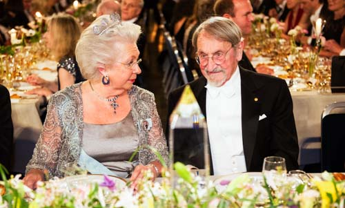 Princess Christina of Sweden and Martin Karplus at the table of honour.