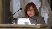 Svetlana Alexievich delivering her Nobel Lecture