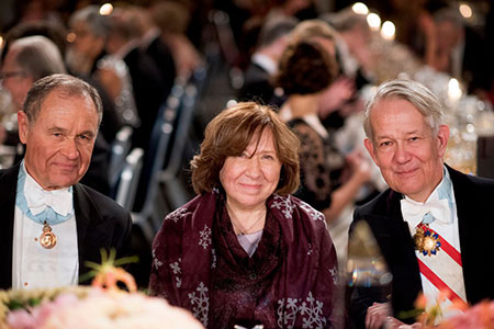 Svetlana Alexievich at the Nobel Banquet.