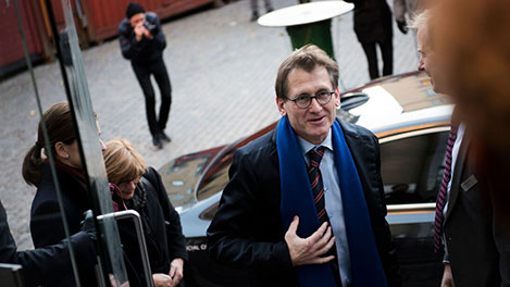 Ben Feringa arriving at the Nobel Museum