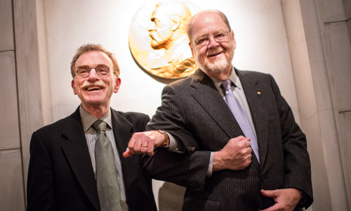 Medicine Laureates Randy W. Schekman and James E. Rothman during their visit to the Nobel Foundation