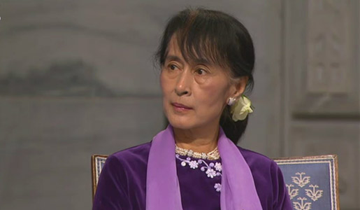 Aung San Suu Kyi at the Oslo City Hall, 16 June 2012