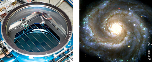 Digital camera and spiral galaxy