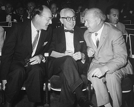 From left: John Bardeen, Isidor Isaac Rabi and Werner Heisenberg.