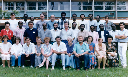 Detection of HIV infection course at Institut Pasteur in Bangui, Central African Republic, 1987.