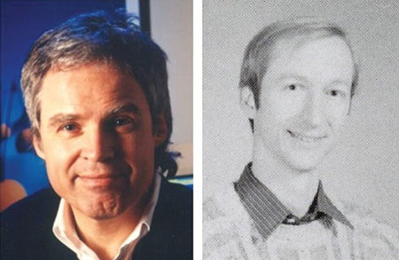 My mentors, 1989. (Left) My boss at Bell Labs, Horst Störmer. (Right) My best friend, and the most talented scientist I've ever known, Harald Hess.