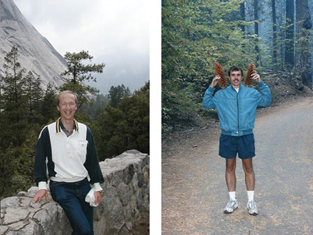 Finding our path. Harald (left) and I (right) on a trip to Yosemite National Park, 2002.