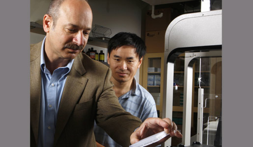 Bruce Beutler  with colleague in the laboratory
