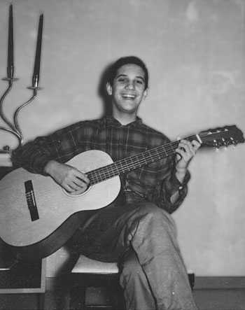 Martin Chalfie and his first guitar.
