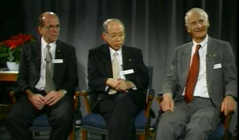 Nobel Laureates in Chemistry 2001, K. Barry Sharpless, Ryoji Noyori and William S. Knowles