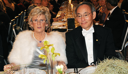 Steven Chu and DDS Catharina Lindqvist at the 2012 Nobel Banquet on 10 December 2012