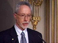 John M. Coetzee delivering his Nobel Lecture