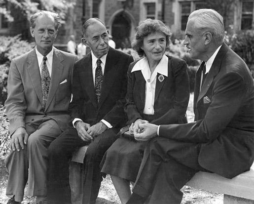 Four Nobel Laureates at the Washington University