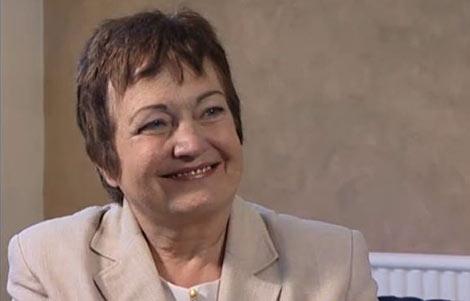 Mairead Corrigan-Maguire during the interview in Belfast, Northern Ireland, 2006.