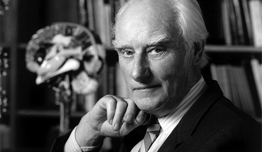 Francis Crick in his office