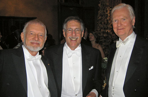 Dan McFadden, Diamond, Jim Mirrlees, close friends and co-authors, Stockholm, December 10, 2010