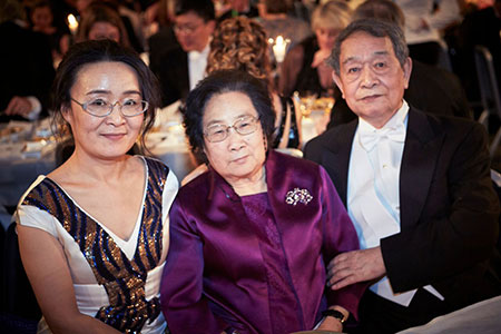 Youyou Tu and her husband Tingzhao Li at the Nobel Banquet.