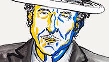 Bob Dylan. Ill: N. Elmehed. © Nobel Media 2016