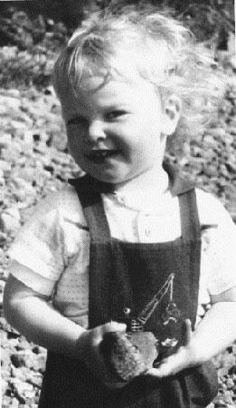 Edvard Moser as a kid.