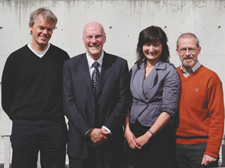 In 2007, we became the Kavli Institute for Systems Neuroscience. The picture was taken during Fred Kavli's visit in 2008.