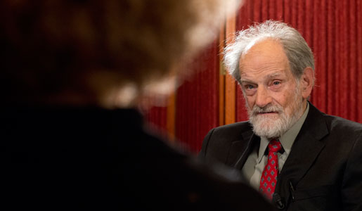 Lloyd S. Shapley during his interview with Nobelprize.org