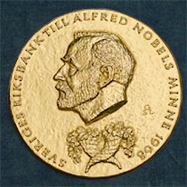 The Medal for The Sveriges Riksbank Prize in Economic Sciences in Memory of Alfred Nobel. Registered trademark of the Nobel Foundation. © ® The Nobel Foundation.