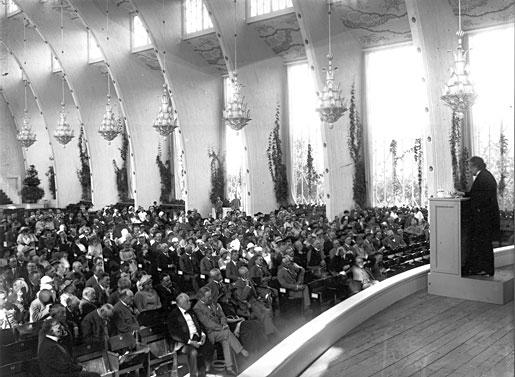 Albert Einstein delivering his Nobel Lecture