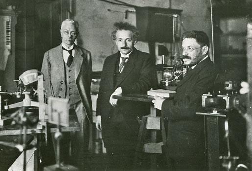 Albert Einstein visiting Amsterdam's experimental physicist Pieter Zeeman, with his friend Paul Ehrenfest, ca 1920