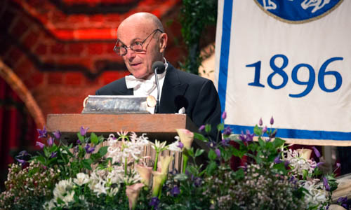 Eugene F. Fama delivering his banquet speech