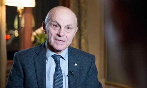 Eugene F. Fama during the interview with Nobelprize.org