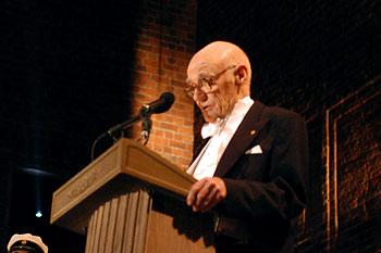 John B. Fenn delivering his banquet speech.