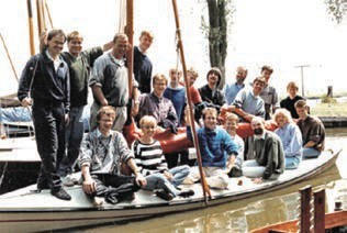 The Feringa group at a sports event during the yearly Workweek in the 90s.