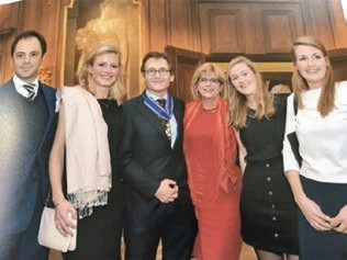 Betty, our daughters Femke, Hannah and Emma and son in law Jorrit at a recent ceremony when I received a Royal decoration.