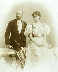 Wedding picture of Emil and Else von       Behring.