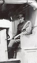Ernest Hemingway serving as ambulance driver during the war.