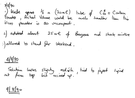 Extracts from Jon Hare's Laboratory Notebook