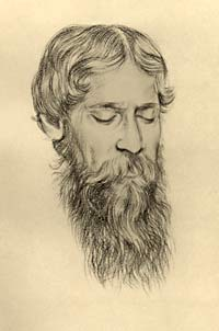 Portrait of Tagore.