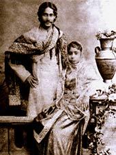Tagore and Mrinalini Devi.